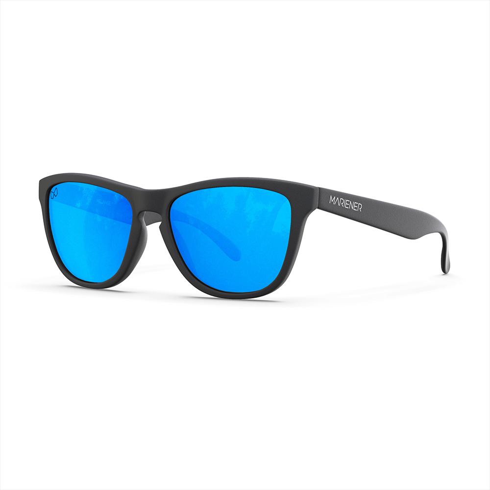 Mariener-Melange-Wayfarer-Rubber-Matte-Black-Sky-Wayfarer-Sunglasses-Zwarte-Zonnebril-Angle