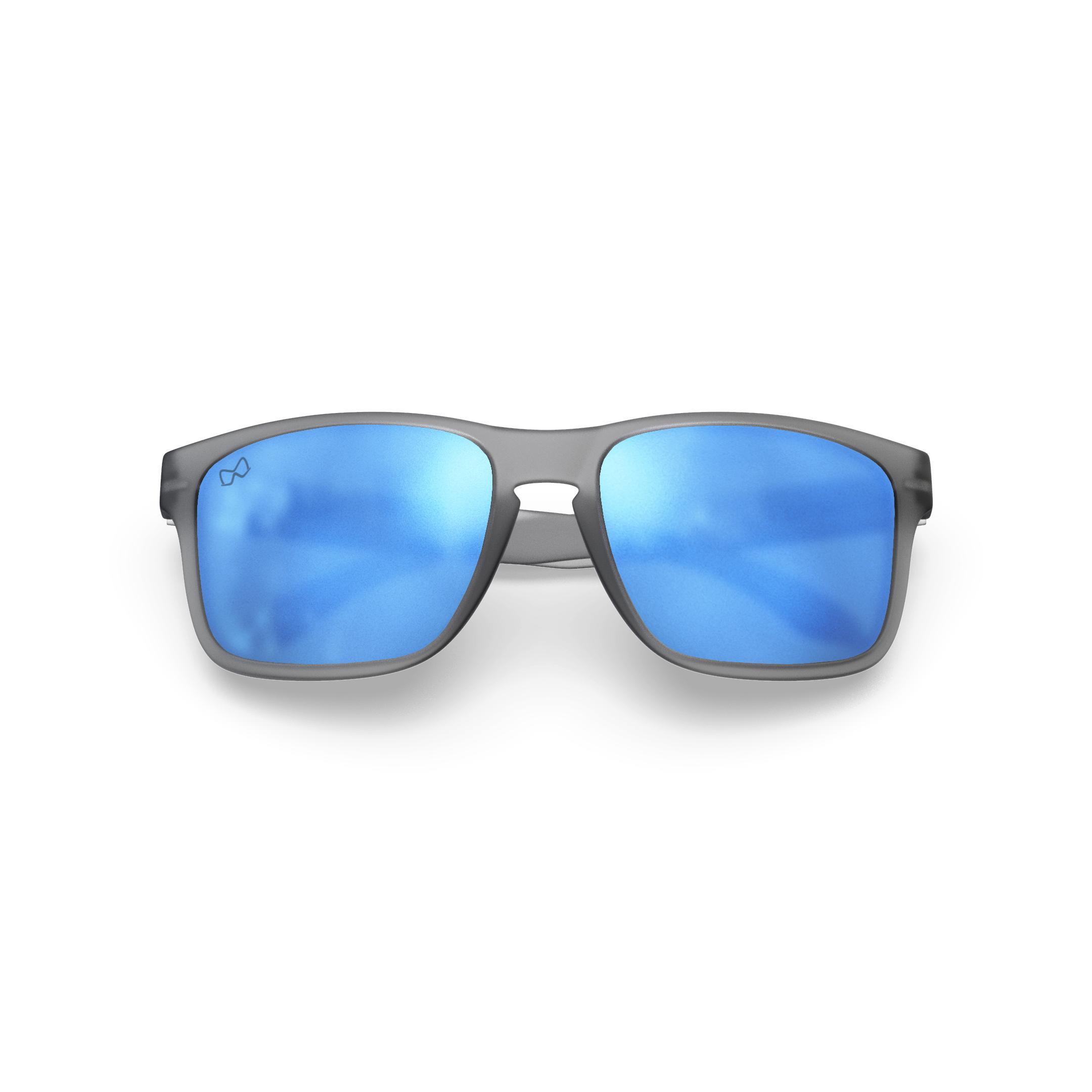Mariener-Melange-Makan-Frozen-Grey-Matte-Reflective-Sky-Adult-Sunglasses-Zonnebril-Mat-Reflecterend-Volwassenen-Folded
