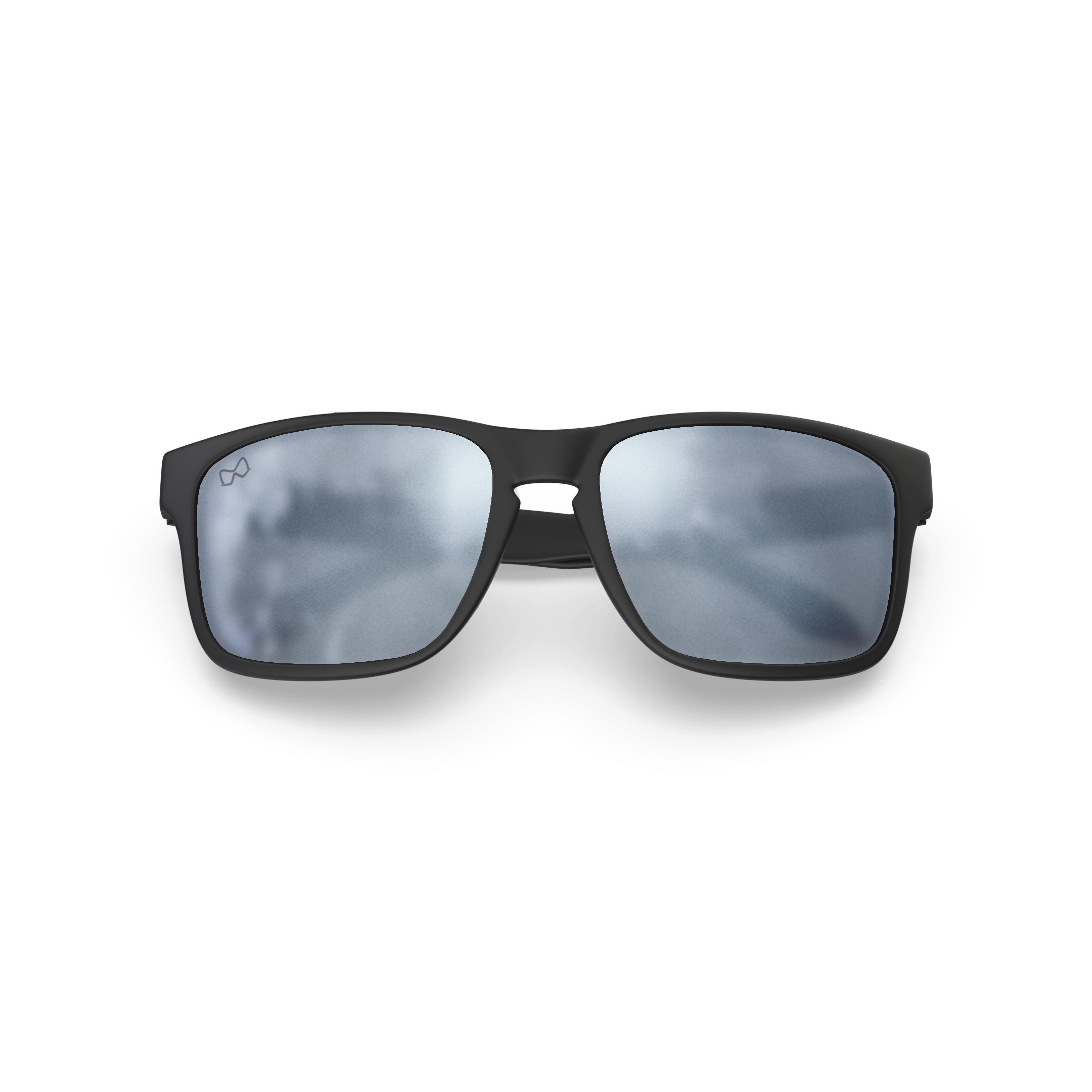 Mariener-Melange-Makan-Matte-Black-Matte-Reflective-Dark-Silver-Adult-Sunglasses-Zonnebril-Mat-Reflecterend-Volwassenen-Folded