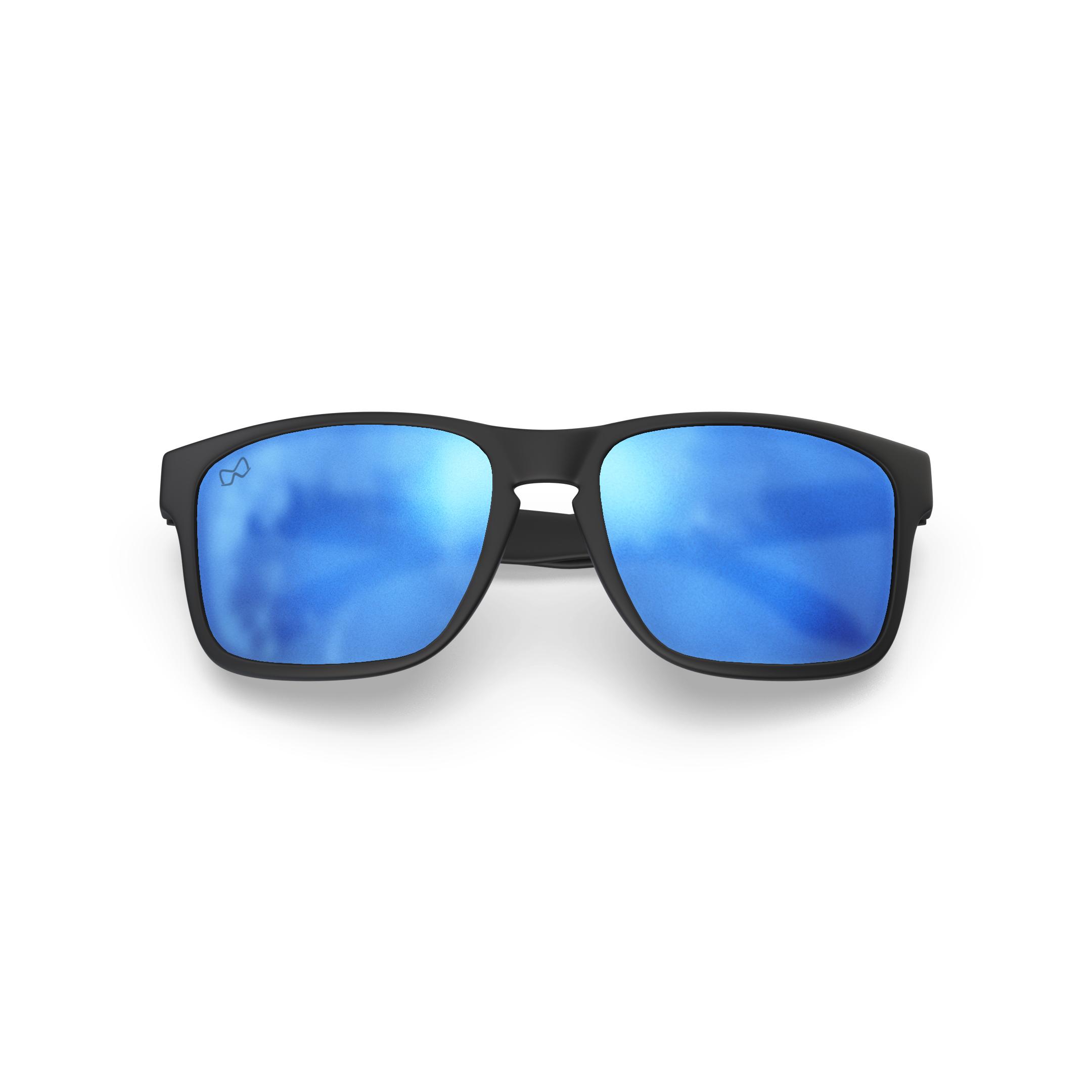Mariener-Melange-Makan-Matte-Black-Matte-Reflective-Sky-Adult-Sunglasses-Zonnebril-Mat-Reflecterend-Volwassenen-Folded
