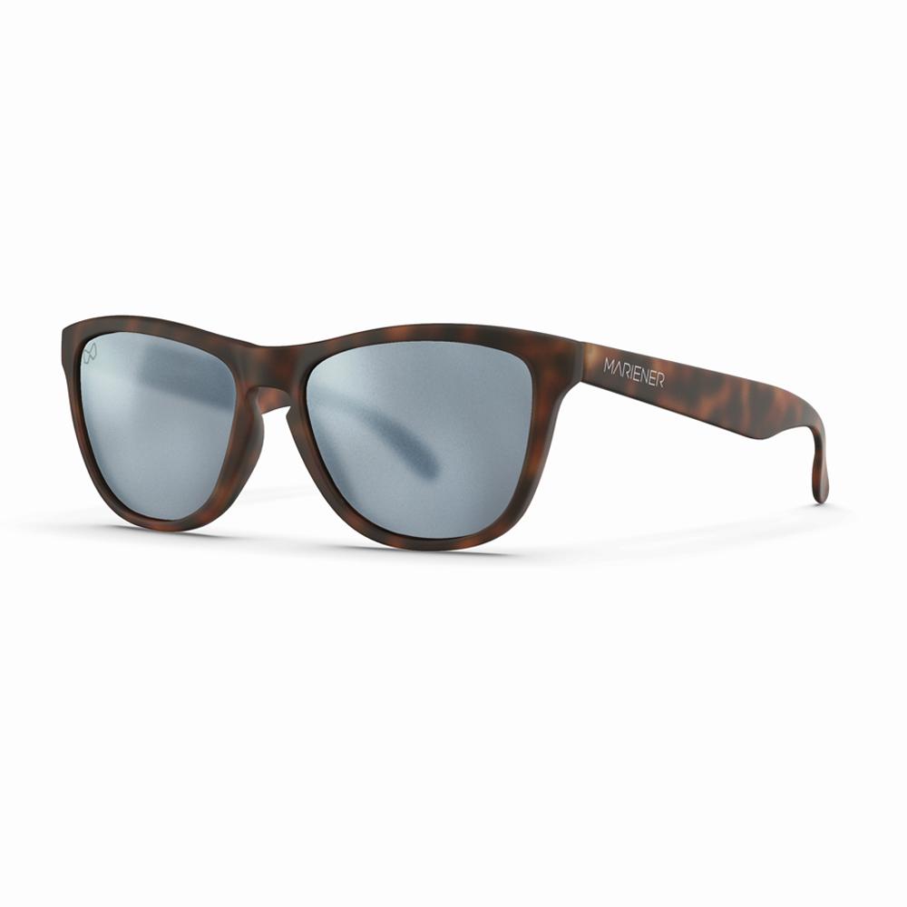 Mariener-Melange-Wayfarer-Rubber-Matte-Tortoise-Brown-Matte-Reflective-Dark-Silver-Wayfarer-Sunglasses-Matte-Lens-Zonnebril-Angle
