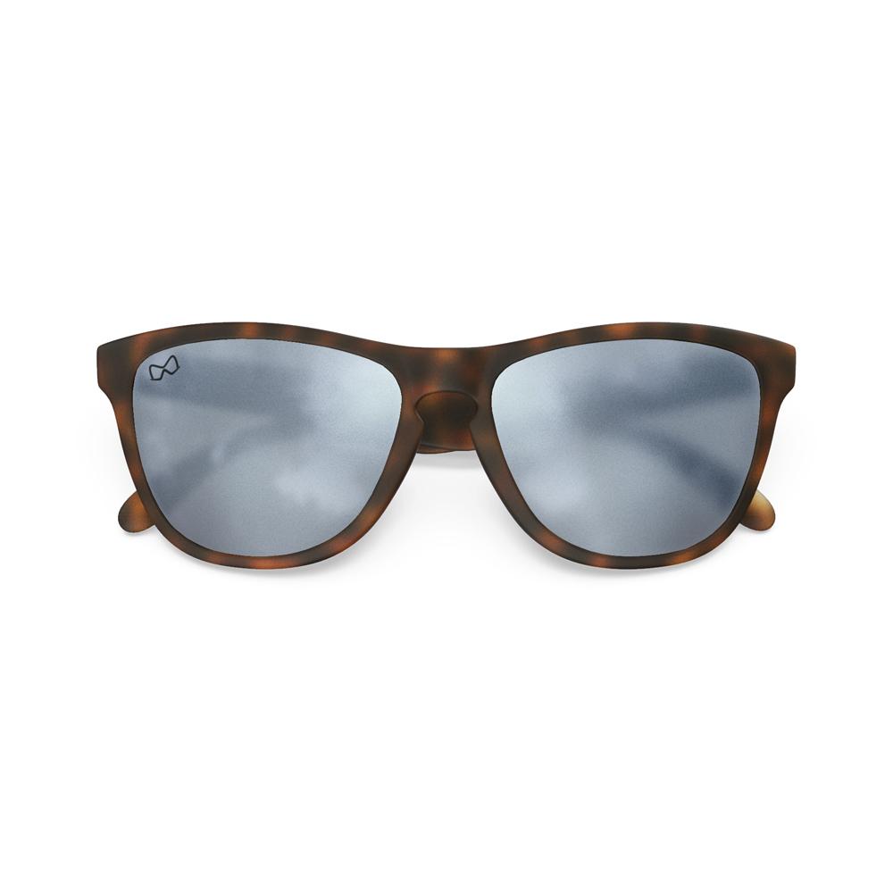 Mariener-Melange-Wayfarer-Rubber-Matte-Tortoise-Brown-Matte-Reflective-Dark-Silver-Wayfarer-Sunglasses-Matte-Lens-Zonnebril-Overview