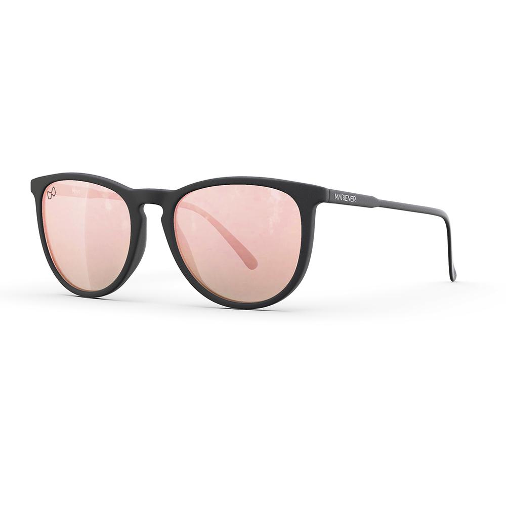 Mariener-Maki-Round-Rubber-Matte-Black-Rose-Gold-Sunglasses-Zwarte-Zonnebril-Angle