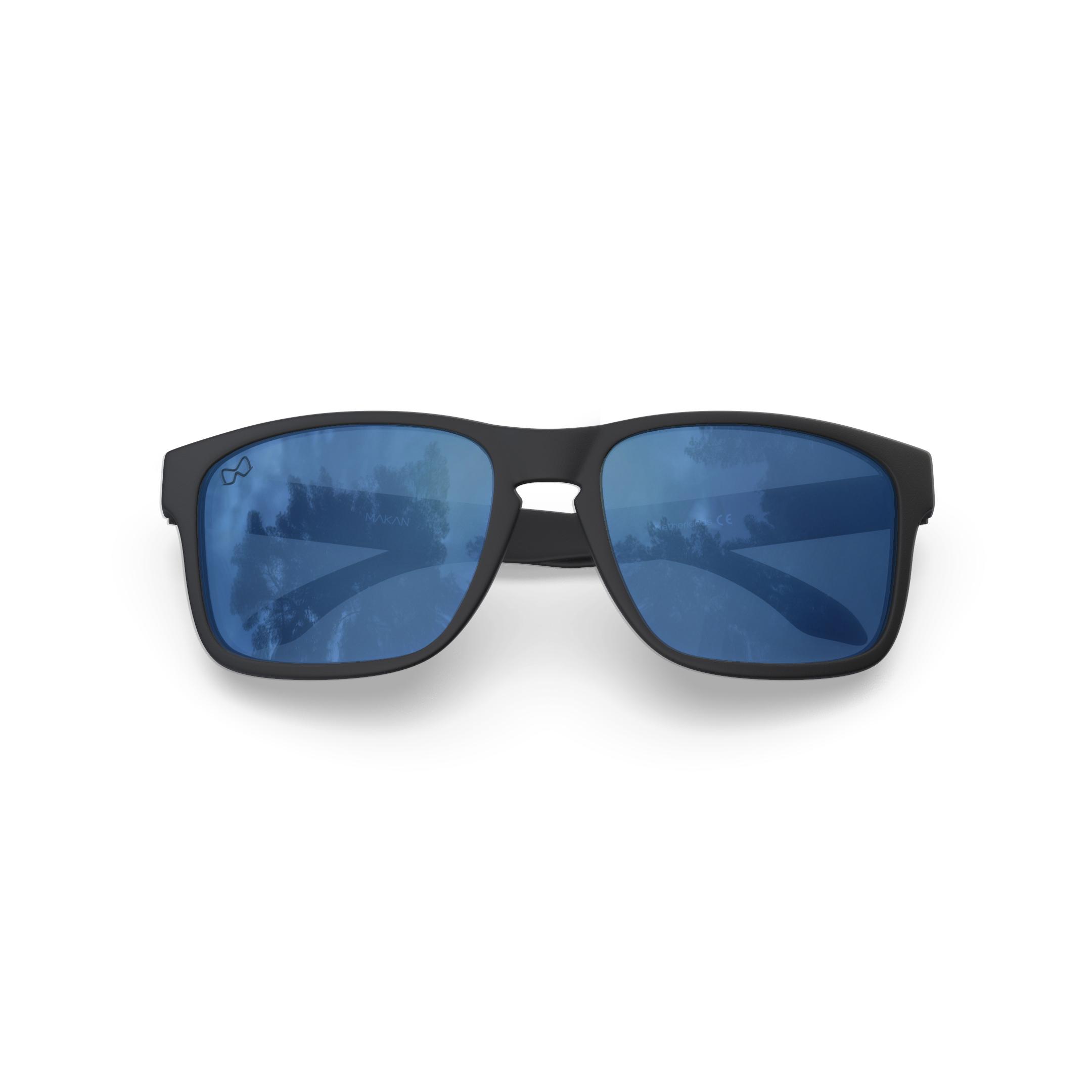 Mariener-Melange-Makan-Matte-Black-Rubber-Azure-Lens-Adult-Sunglasses-Zonnebril-Volwassenen-Folded