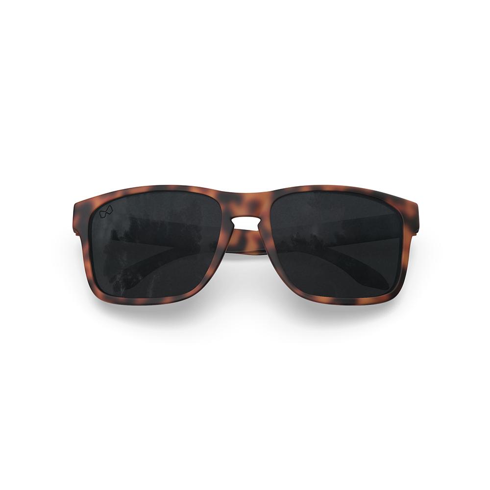 Mariener-Melange-Makan-Matte-Tortoise-Brown-Rubber-Dark-Smoke-Polarized-Lens-Adult-Sunglasses-Gepolariseerde-Zonnebril-Volwassenen-Folded