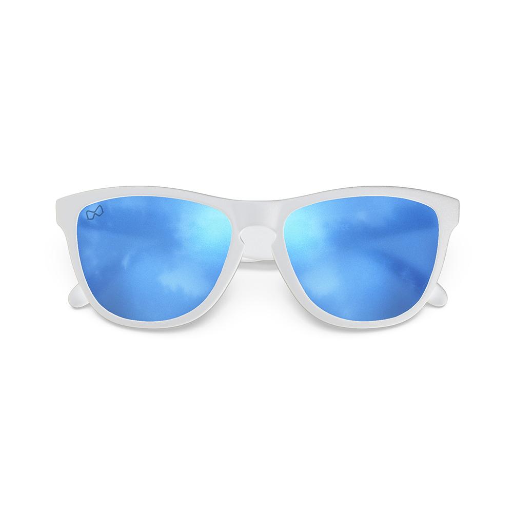 Mariener-Melange-Wayfarer-Matte-White-Rubber-Matte-Reflective-Sky-Wayfarer-Sunglasses-Matte-Lens-Zonnebril-Folded
