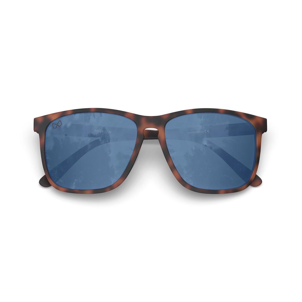 Mariener-Mellow-Rectangular-Matte-Tortoise-Rubber-Spring-Hinge-Azure-Sunglasses-Rechthoekige-Zonnebril-Folded
