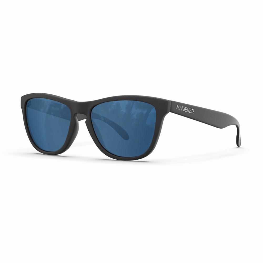 Mariener-Melange-Wayfarer-Matte-Black-Rubber-Azure-Wayfarer-Sunglasses-Zonnebril-Angle-1